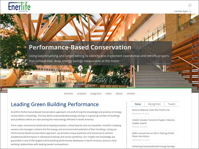 Project: Enerlife Consulting Website