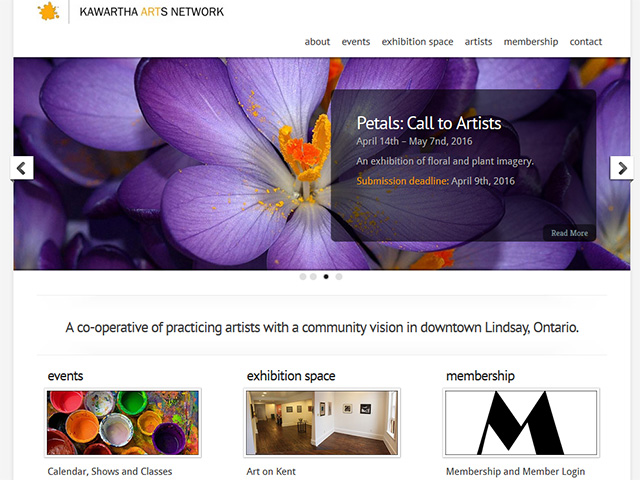 Project: Kawartha Arts Network Website